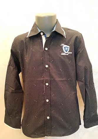 Рубашка на мальчиков 110,116,122,128 роста Синяя, фото 2