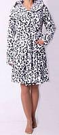 Домашний женский халат с тигровым принтом оптом и в разницу