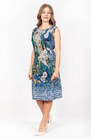 Легкое женское платье с растительным принтом