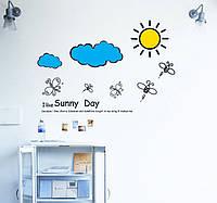 Интерьерная наклейка в детскую комнату Солнышко