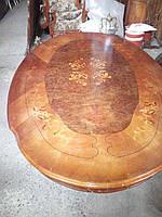 Новый итальянскии обеденный стол овальный.