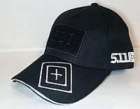 Бейсболка тактическая 5.11 с Velcro панелью чёрная