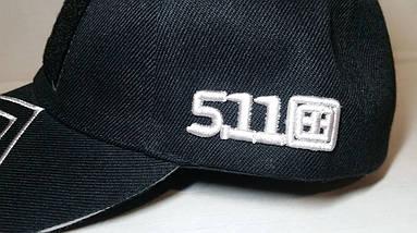 Бейсболка тактическая 5.11 с Velcro панелью чёрная (реплика), фото 2
