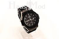Мужские Наручные часы  Hublot   Черные ( Копия бренда)