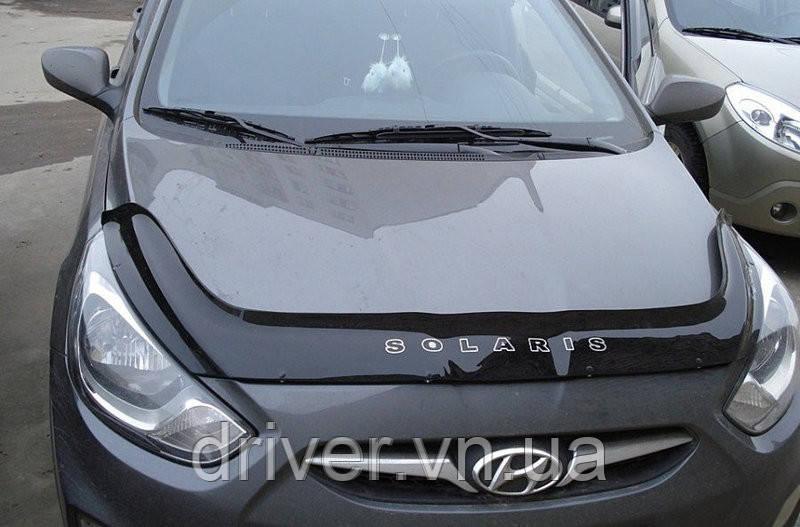 Дефлектор капота (мухобойка) Hyundai Accent/Solaris 2010-2014