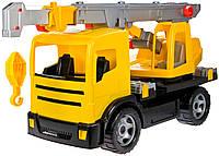 Автокран Mercedes (70 см, желтый), Lena