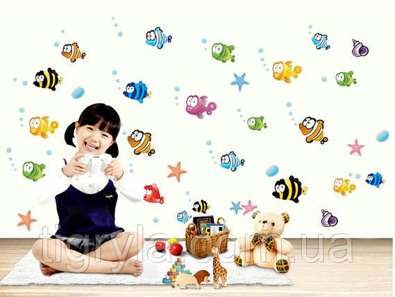 Интерьерная наклейка в детскую комнату Рыбки , фото 2