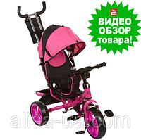 Велосипед трехколесный детский Turbo Trike M 3113-6 с ручкой, Турбо Трайк колеса пена розовый