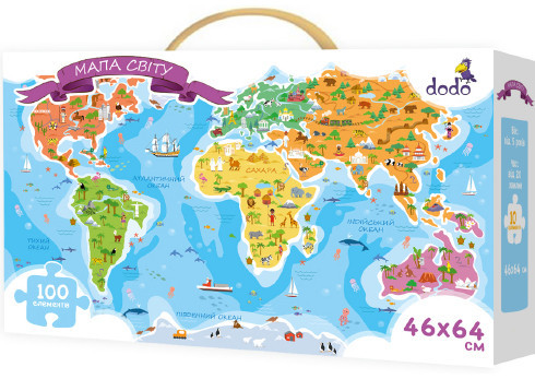 "Детский Пазл ""Карта Мира"", 100110, 300110"