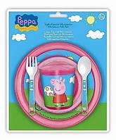 """Набор пластиковой детской посуды """"Peppa Pig"""""""