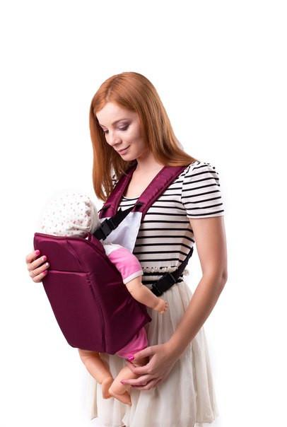 Компактный рюкзак-переноска для детей, Украина №6 бордо, 60379