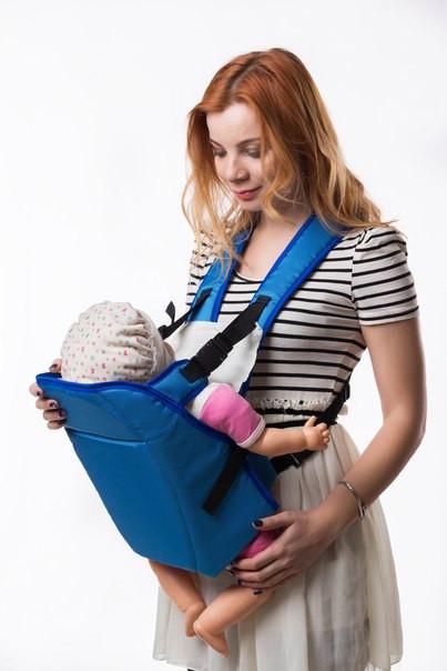 Красивый рюкзак-переноска для детей, Украина №6 голубой, 60707