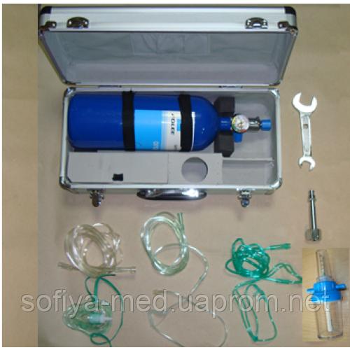 Кислородный баллон (кислородный ингалятор) объемом 2 литра.