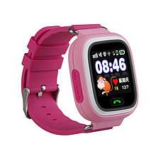GPS часы для детей Smart baby watch Q90-3 (pink) розовые