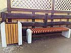 Лавка садово-парковая без спинки с бетонным основанием №5, фото 2