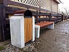 Лавка садово-парковая без спинки с бетонным основанием №5, фото 3