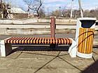 Лавка садово-парковая без спинки с бетонным основанием №5, фото 4