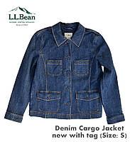 Джинсовая куртка-жакет L.L.Bean(США) Denim Cargo Jacket(S).Оригинал