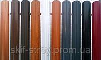 Евроштакетник металлический матовый 0,45мм и 0,5мм, штакетник декоративный (цвет под дерево), фото 10