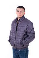 Куртка мужская весна осень Стежка серый (48-58)