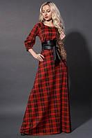Красное платье в пол батал