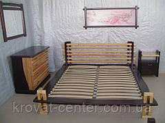 """Прикроватная тумбочка деревянная для спальни """"Жаклин"""" (двухцветная), фото 2"""