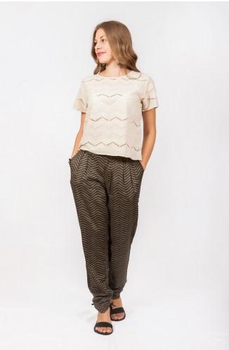 Женские летние штаны цвета хаки