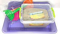 """Акционный набор """"Веселый старт"""": кинетический песок1 кг, контейнер для хранения, пасочки и песочница"""
