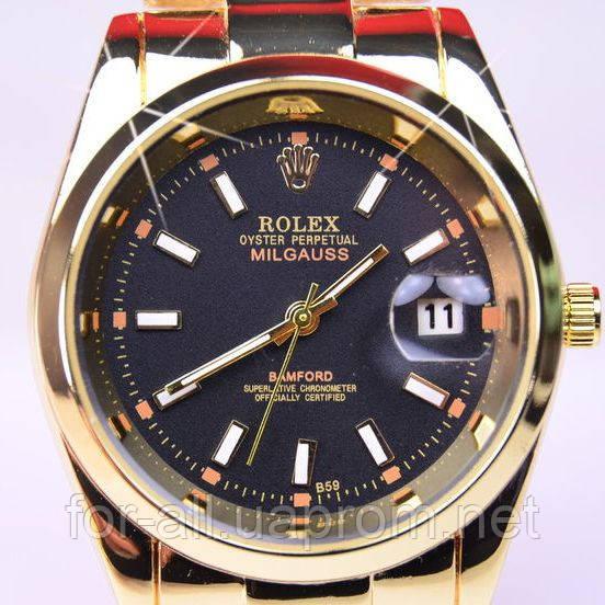 eabc268bf4ca Кварцевые часы Rolex Oyster Perpetual Datejust Milgauss Gold R6227 в ...