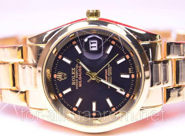 Кварцевые наручные часы Rolex Oyster Perpetual Datejust Milgauss Gold R6227 в интернет-магазине Модная покупка