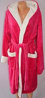 Домашний женский халат с капюшоном на запах, хит сезона, фото 1