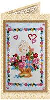 Набор-открытка для вышивки бисером Цветочки от ангелочка