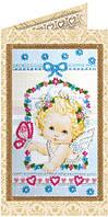 Набор-открытка для вышивки бисером Ангелочек
