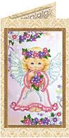 Набор-открытка для вышивки бисером Милый ангелочек