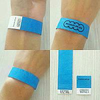 Бумажные контрольные браслеты Tyvek — 3/4'' (19мм) от 1000 шт. Цвет Blue (синий)