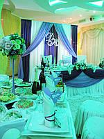Стол молодоженов, оформление и декор