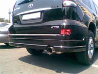 Накладка заднего бампера (юбка) Toyota Land Cruiser Prado 120 стиль