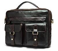 Мужская кожаная сумка-портфель BEXHILL в винтажном стиле черная