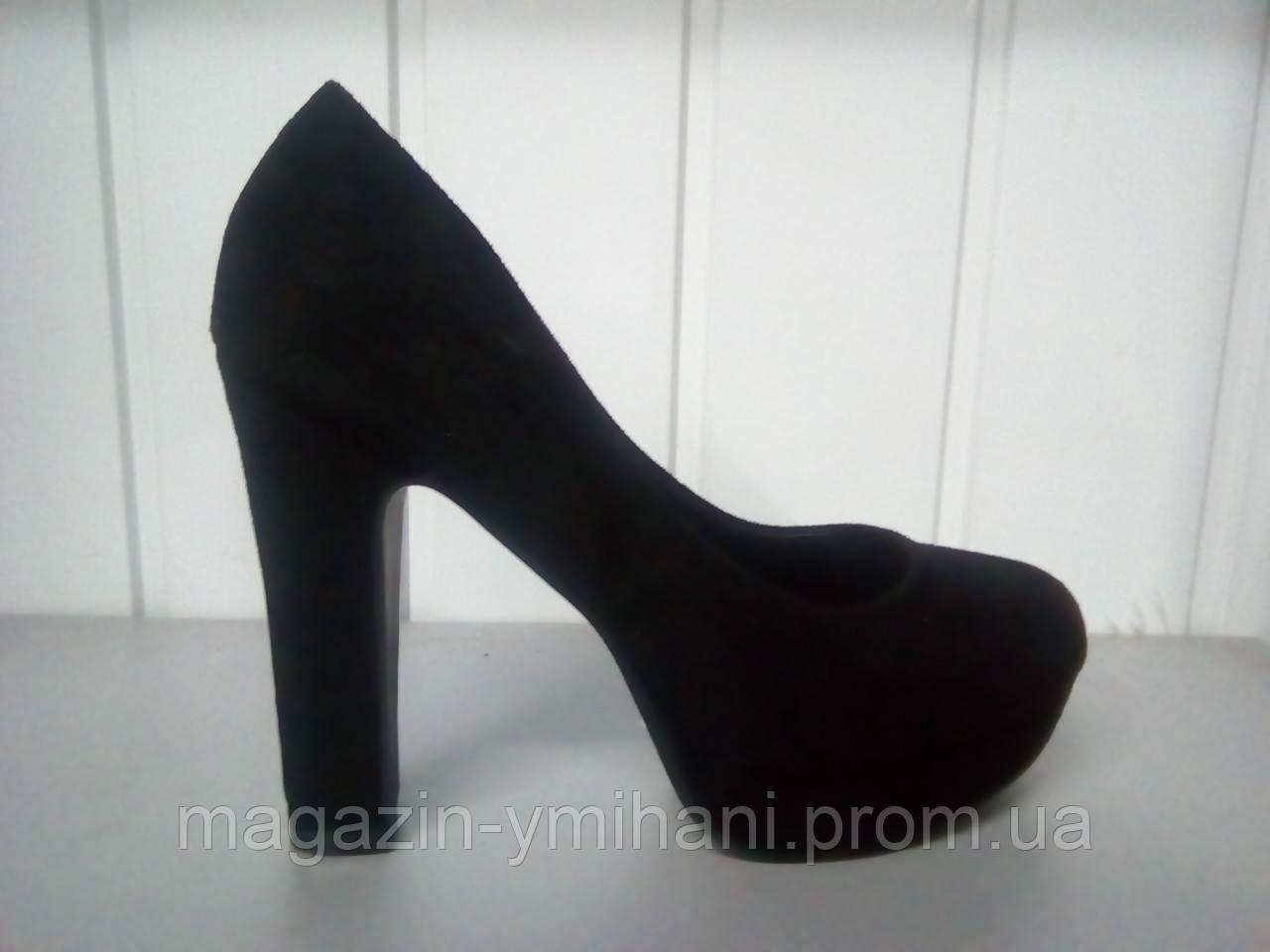 Женские черные замшевые туфли KAMENGSI на высоком каблуке. ada803230e946