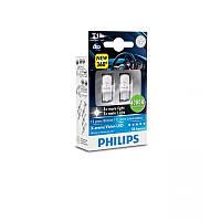 W5W (T10) Лампочки в габариты Philips X-treme Vision LED 4000K W5W T10 12V 1W теплый белый ксенон