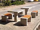 Лавка короткая садово-парковая без спинки с бетонным основанием для шахматного стола №9, фото 5