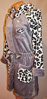 Велюровый женский халат для дома на молнии, хит сезона