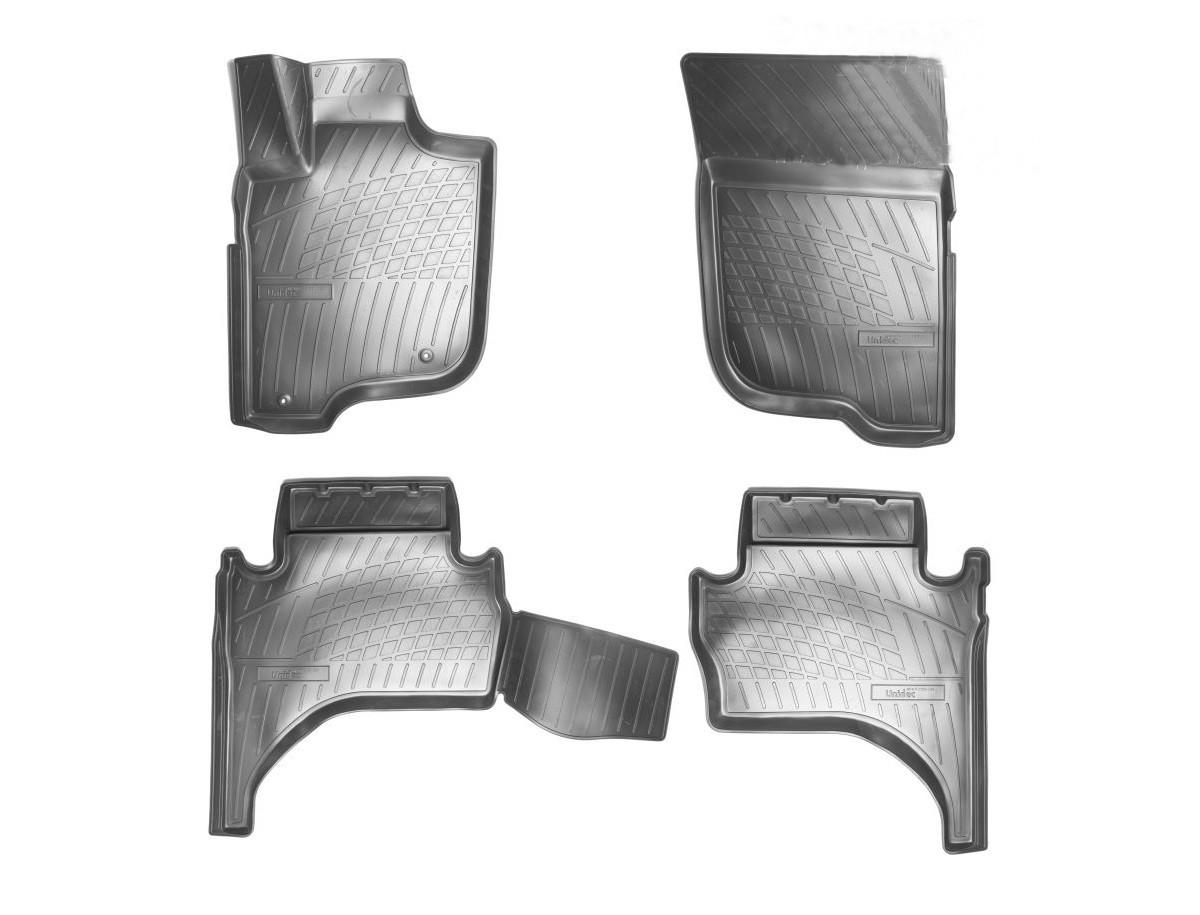 Коврики в салон для Mitsubishi L200 3D (2015) (полиур., компл - 4шт) NPA11-C59-335