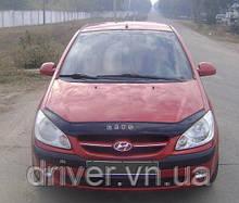 Дефлектор капота (мухобойка) Hyundai Gets 2005-