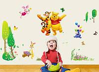 Интерьерная наклейка, декоративная в детскую комнату Винни пух
