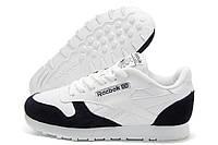Кроссовки женские Reebok Classic белые с черным (рибок)