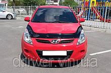 Дефлектор капота (мухобойка) Hyundai i20 2008-2012