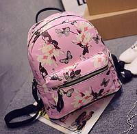 """Яркий, красочный, стильный рюкзак """"Цветы и бабочки"""". Хорошее качество. Отличная цена. Не дорого. Код: КГ293"""