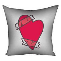 Подушка подарок к Дню всех влюбленных 50х50 см
