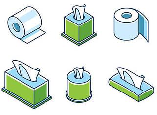 Туалетная бумага, полотенца Z-V, салфетки, накладки на унитаз
